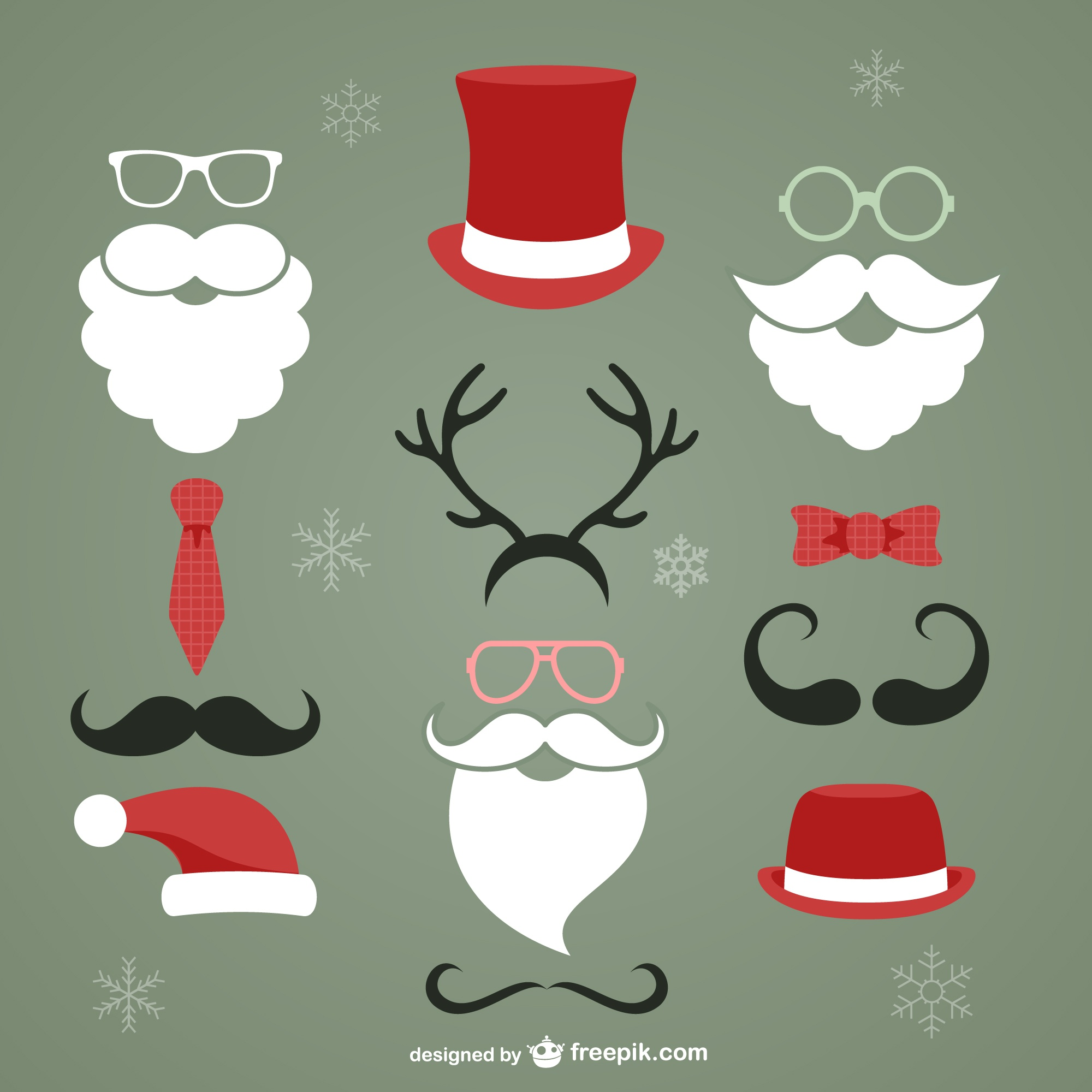 Christmas hipster elements