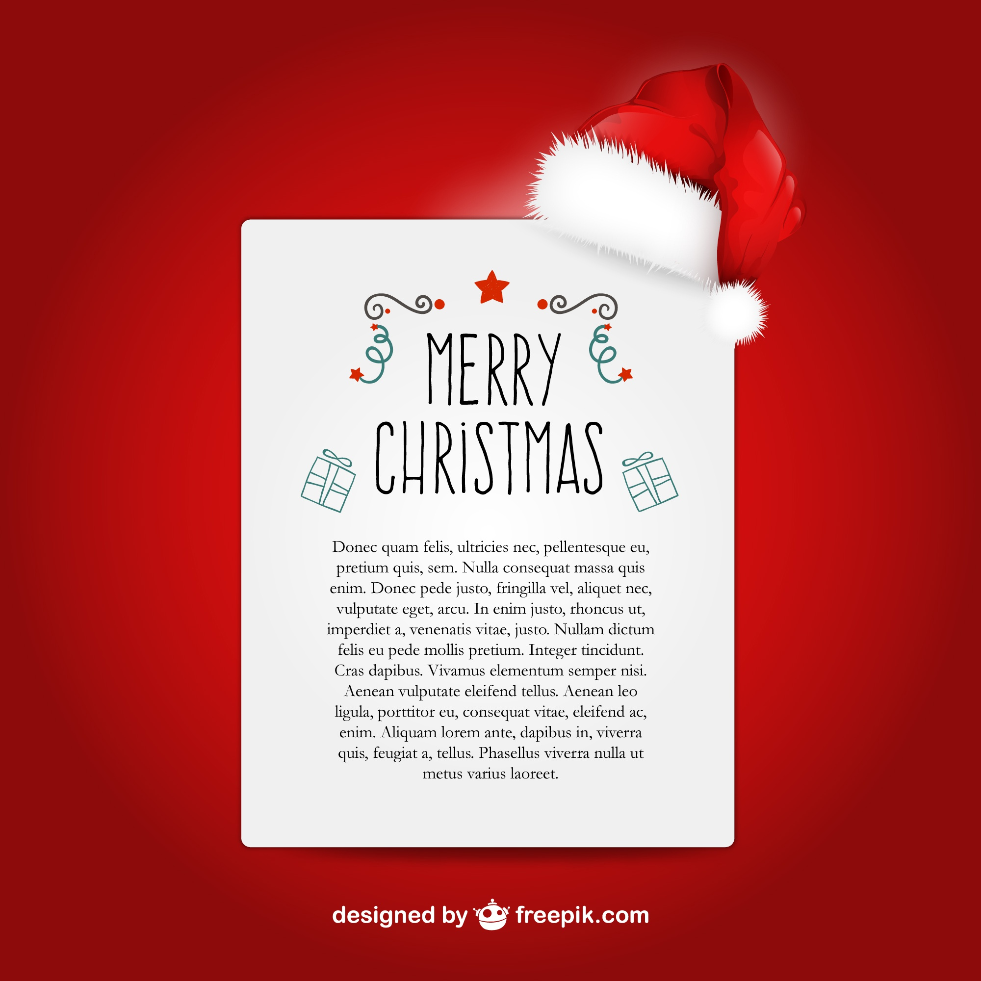 Christmas letter template with Santa Claus hat 18301 38 2 months ago i2JGy6ny