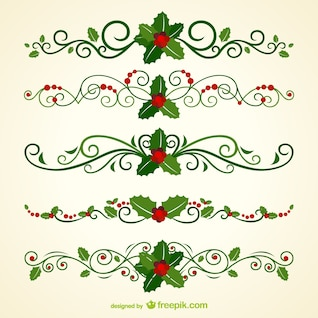 Christmas ornamental headers