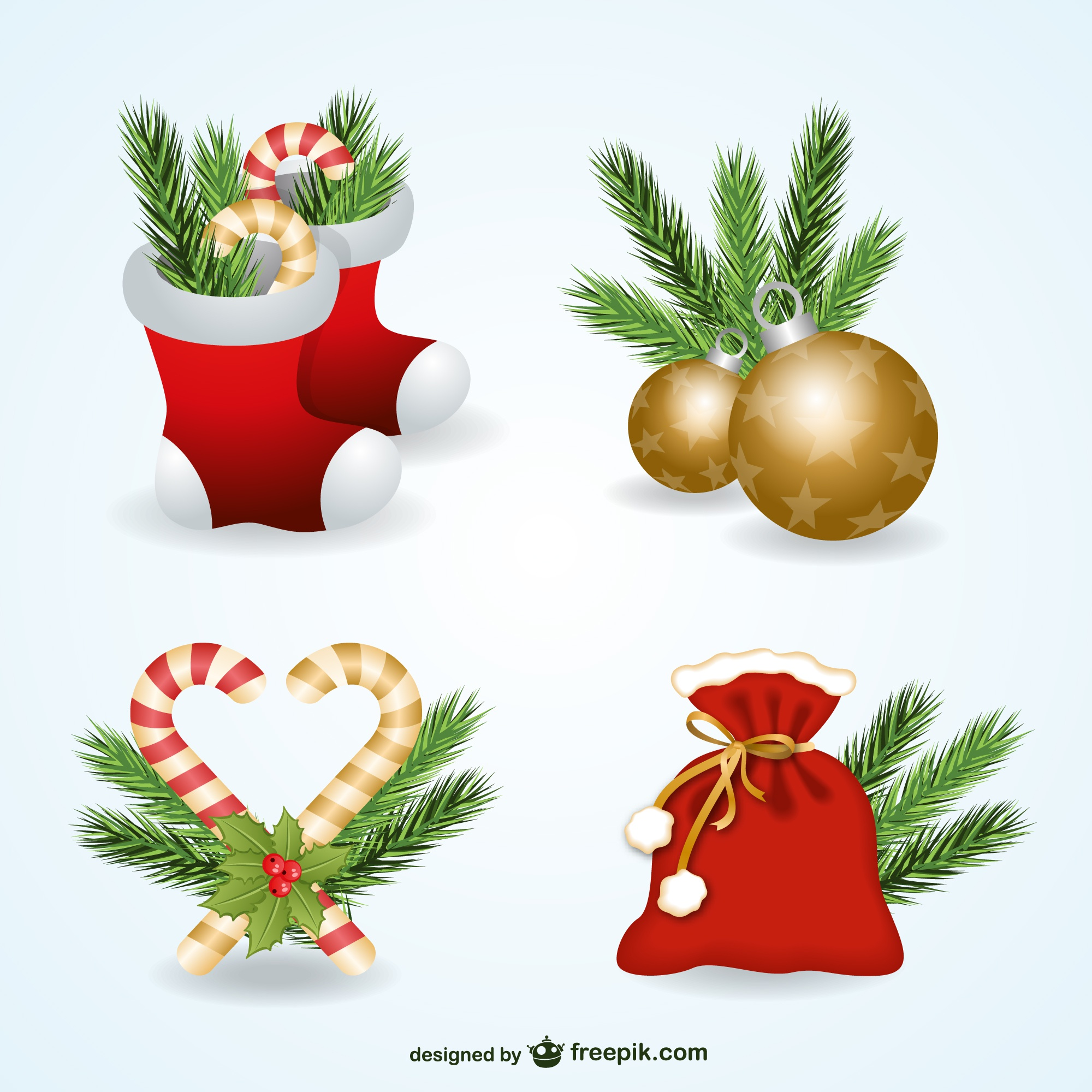 Christmas ornaments pack