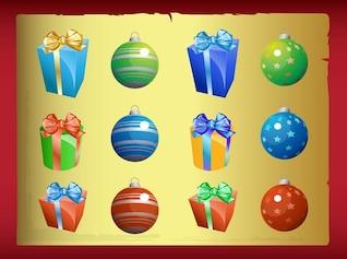 Christmas presents and balls