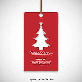 Christmas red tag