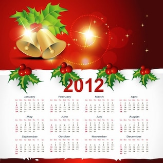 christmas style  calendar vector graphic