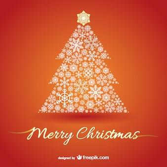 Christmas tree on orange background