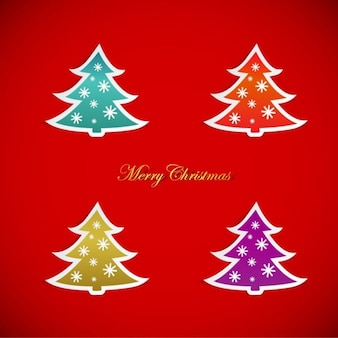 Christmas tree stickers in many colors