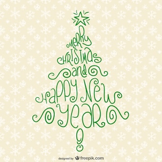 Christmas tree typography