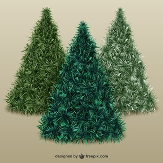 Christmas trees with texture