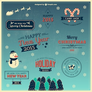 Christmas wishes vector pack