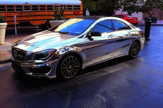 Chrome luxury car