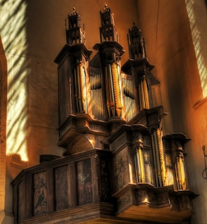 Church old organ