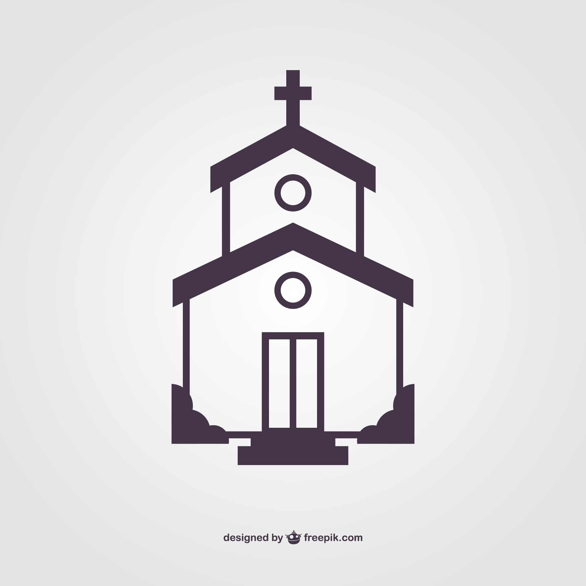 Church silhouette vector