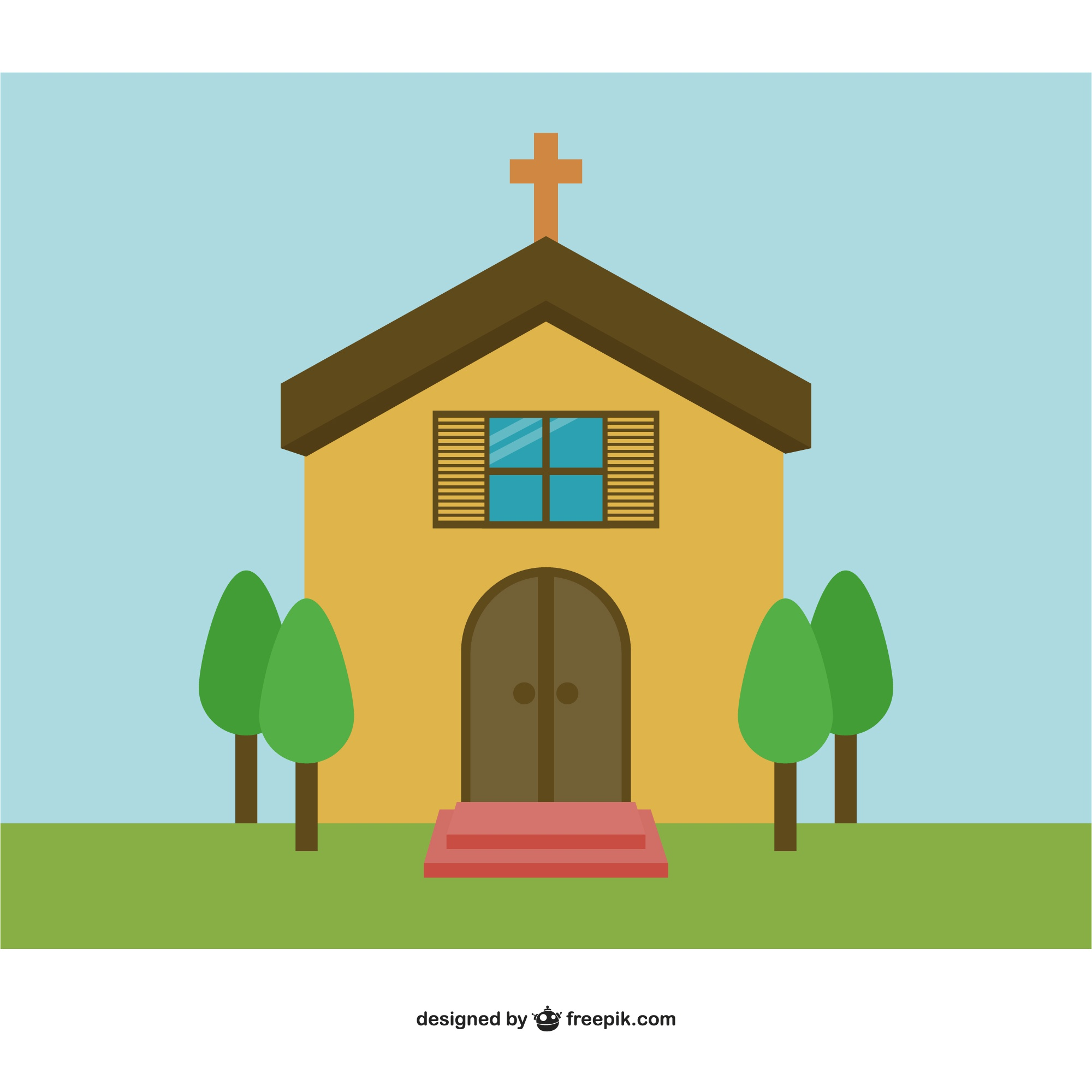 Church vector background