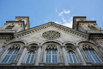 Church with giant windows