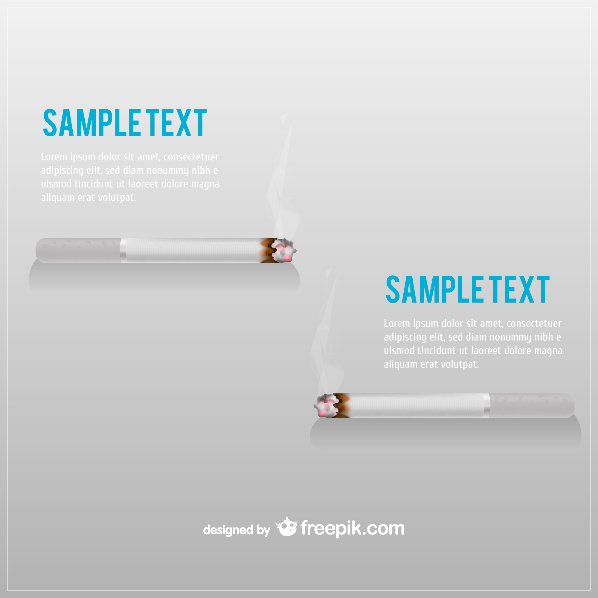 Cigarette and smoke vector image