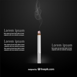 Cigarette free vector template