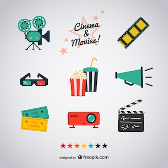 Cinema and movies icons