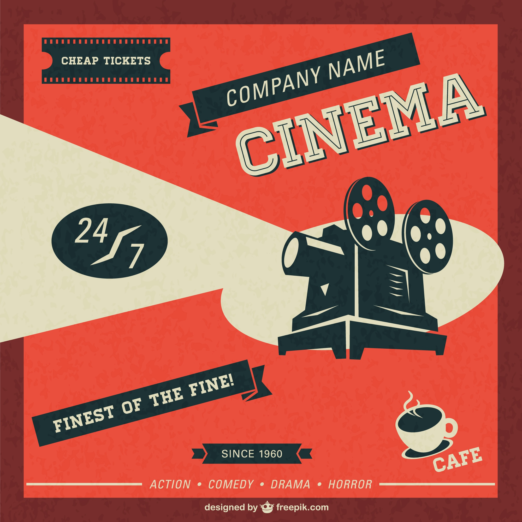 Cinema retro template free download