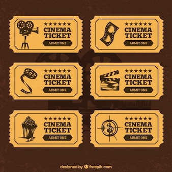 Cinema tickets in retro style