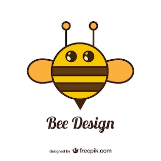 Circle bee vector design