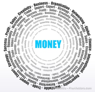 Circle on money and business