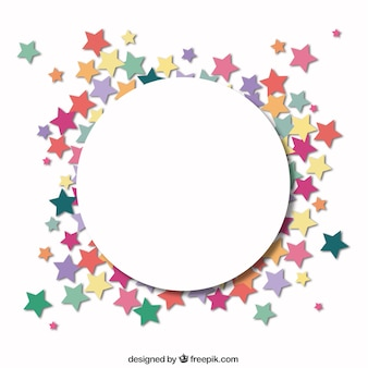 Circle with a frame of stars
