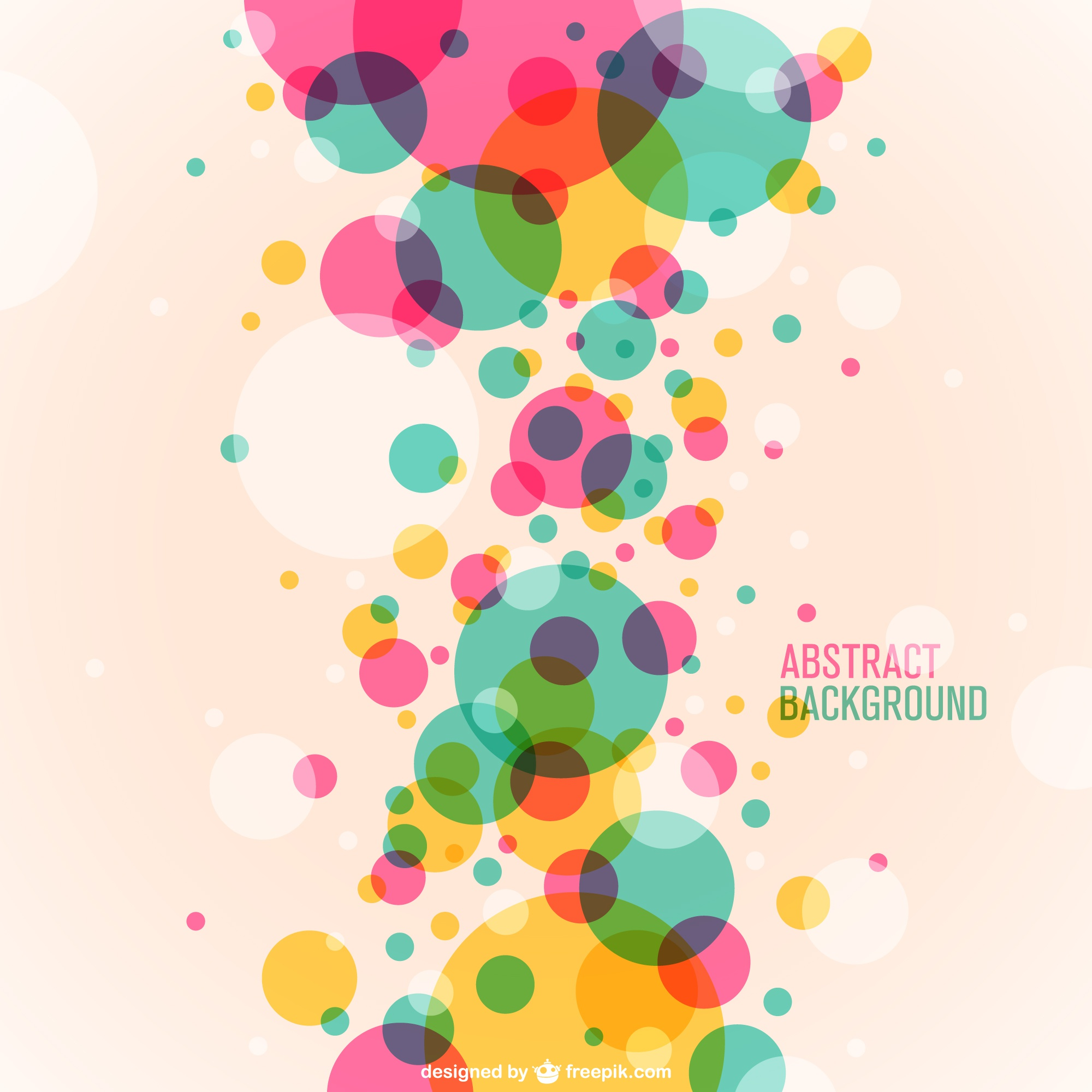 Circles vector free background