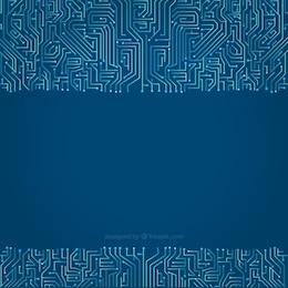 Circuit background in blue tones