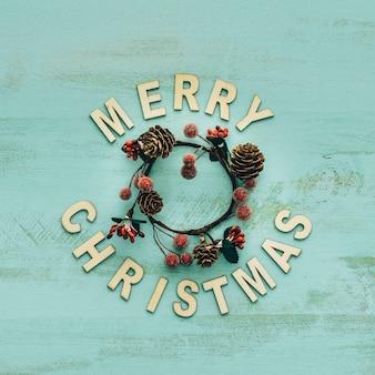 クリスマスの円形の装飾