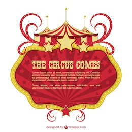 Circus banner showtime design