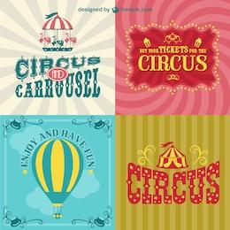 Circus posters set