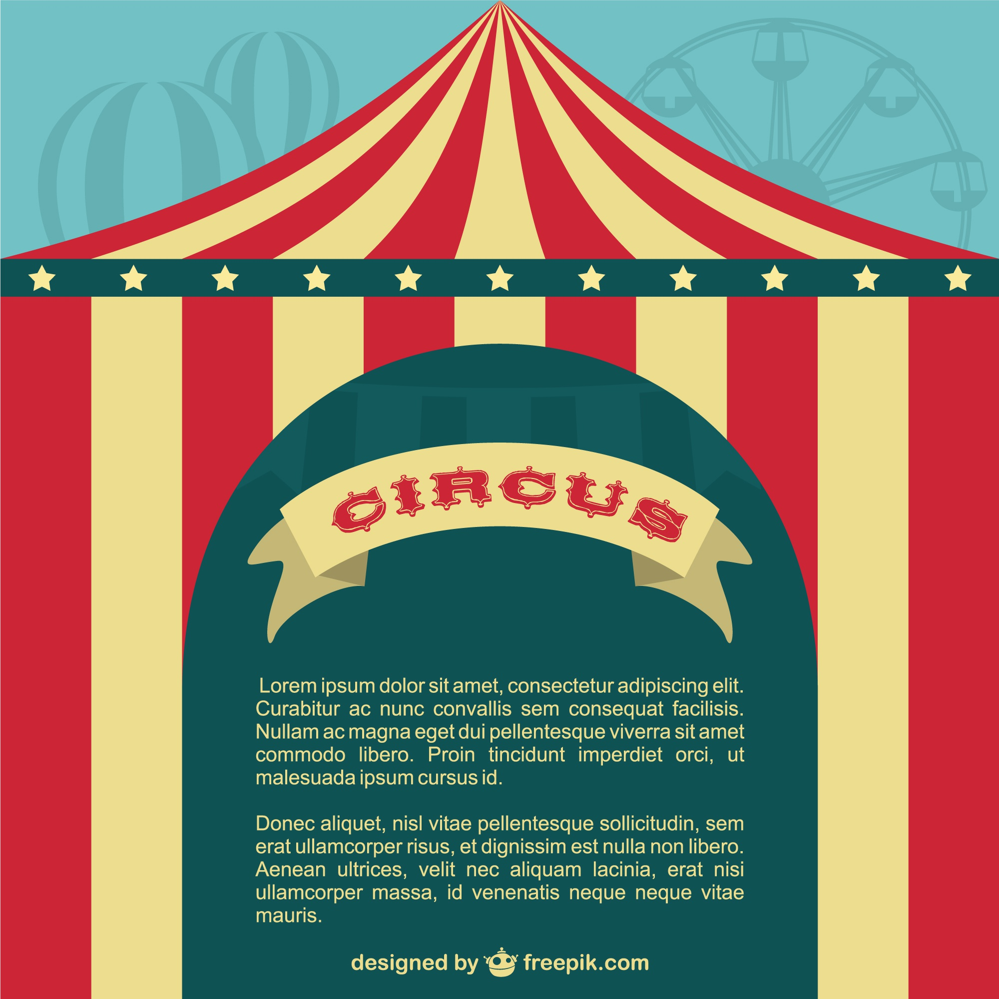 Circus tent poster template