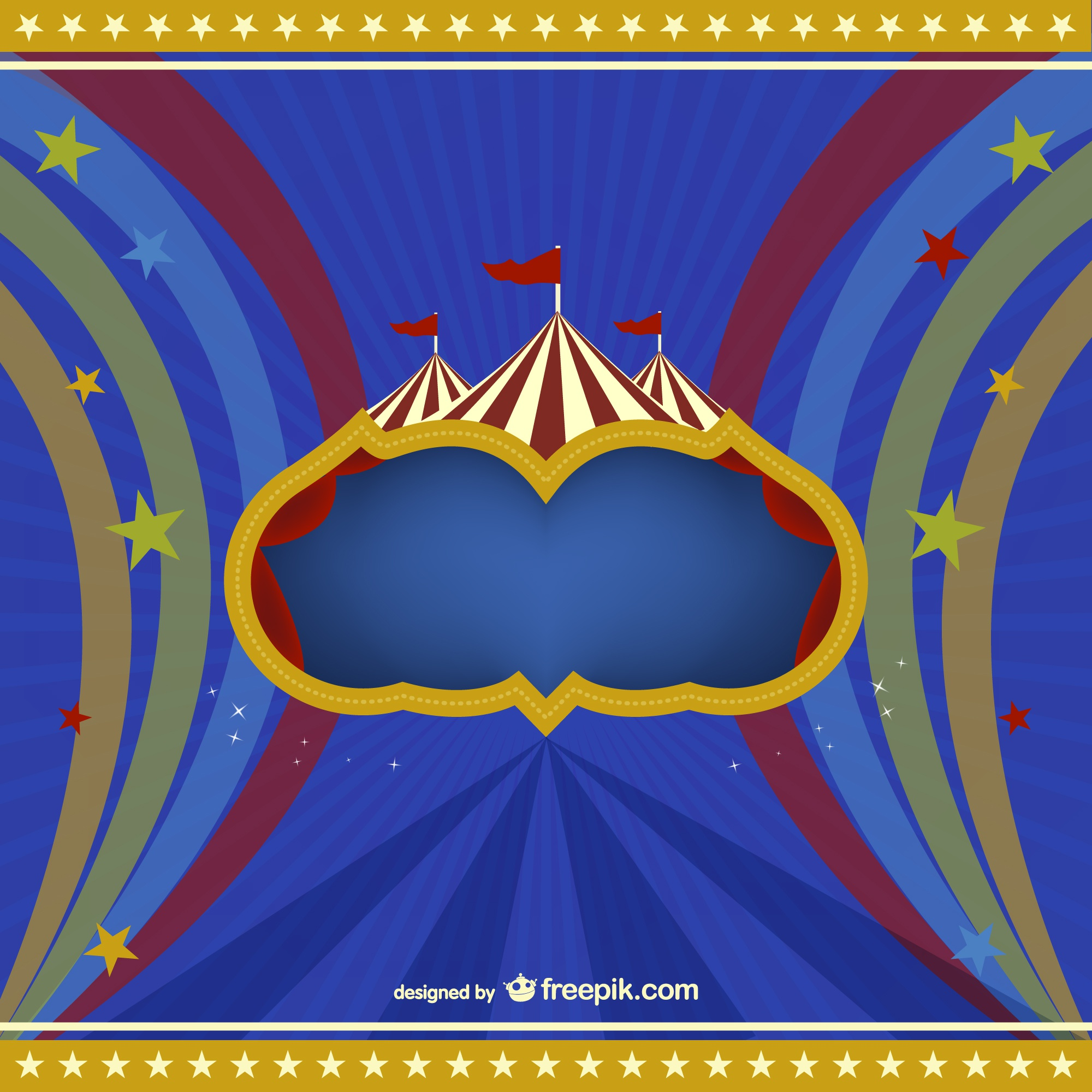 Circus vector free background