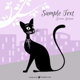 City cat vector design