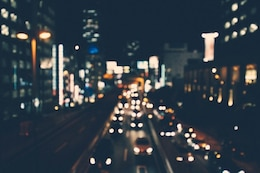 City in bokeh