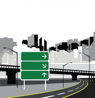 City Road skyline sign background vector