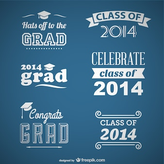 Class of 2014 vector set