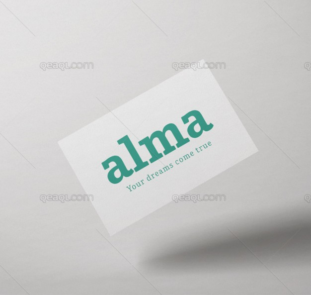 Classic business card mock up