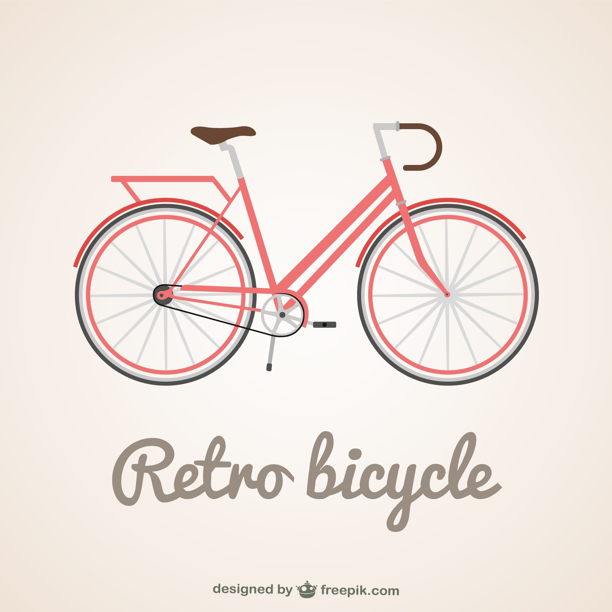 Classic bycicle vector illustration