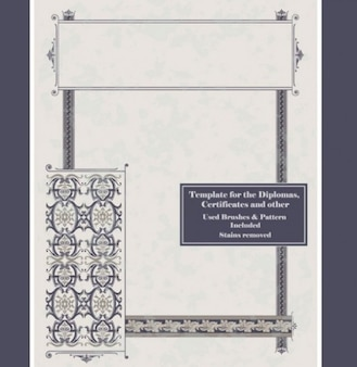 Classic Diploma frame templates background