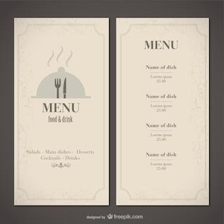 Classic food menu template