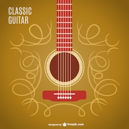 Classic guitar vector design