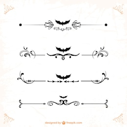 Classic ornaments and dividers for halloween designs