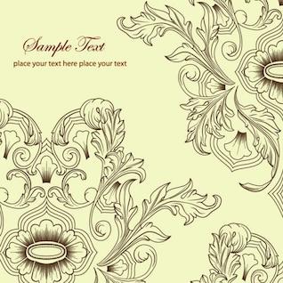 Classic ornaments vintage floral design vector
