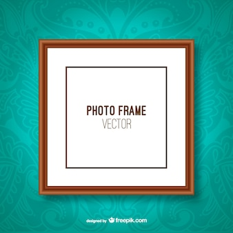 Classic photo frame vector
