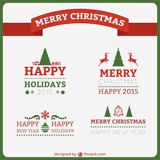 Classic style Christmas wishes
