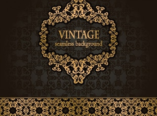 Classic vintage pattern antique art background vector set