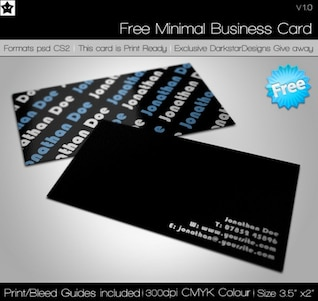 clean crisp minimal business card