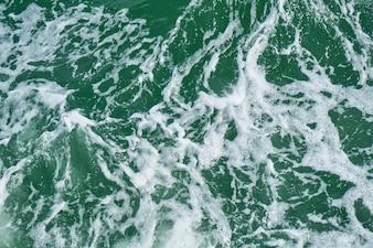Clean water horizontal splashing tide