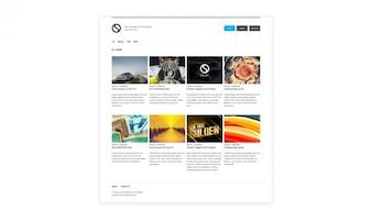 Clean web template PSD