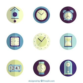 Clock icons collection